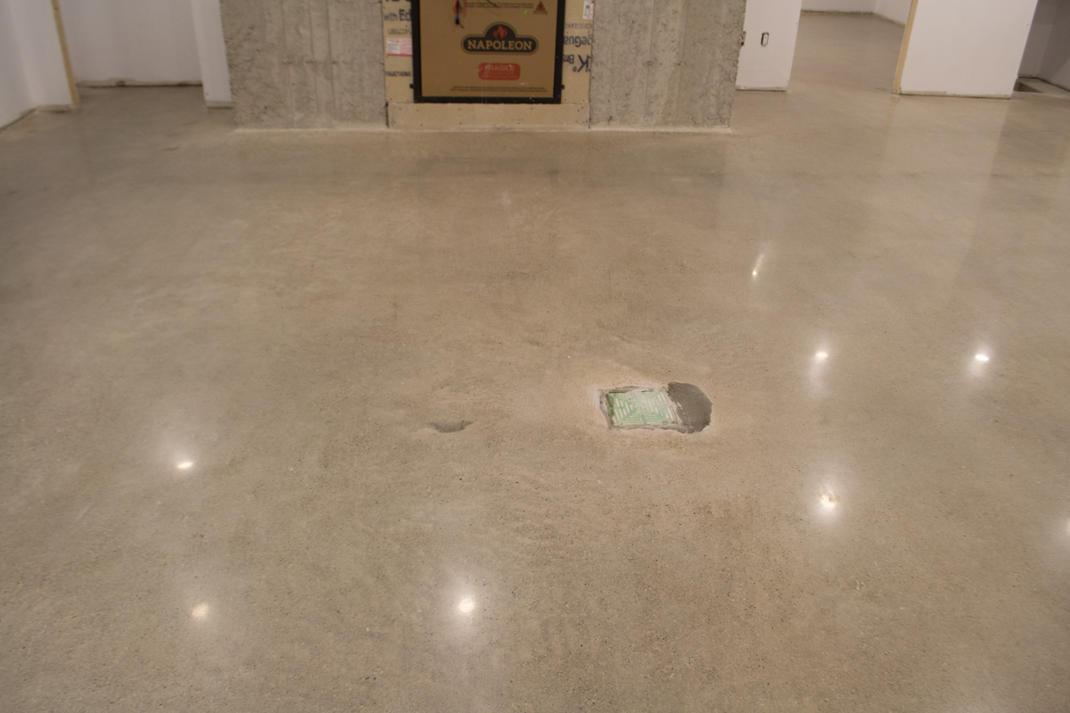 Concrete polishing in basement